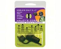 Haleys Corker 5 in 1 Wine Tool Original Corker Black Clamshell-HALEYOB1