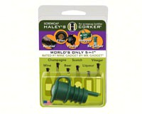 Haleys Corker 5 in 1 Wine Tool Original Screwcap Green Clamshell-HALEYOG1