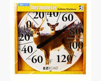 Winter Deer Thermometer 12.5inch-HEAD8401226