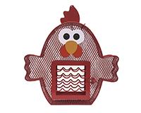 Chicken Seed/Suet Feeder-HEATH21804
