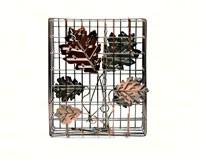 Copper Decorative Leaf Large Seed Cake Cage-HEATH2307