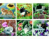 Susan Bourdet Cats & Flowers assorted-HL24036B