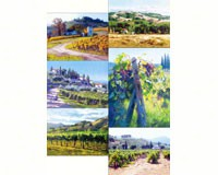 6 Assorted Wine Theme Microfiber Celaning Cloths-HL24097