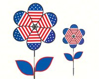 Patriotic Flower withLeaves 19 inch Spinner-ITB2778