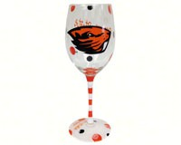 Wine Glass (12 oz) - Oregon State Beavers-JENKINS12679