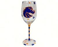 Wine Glass (12 oz) - Boise State Broncos-JENKINS12680