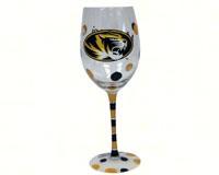 Wine Glass (12 oz) - Mizzou Tigers-JENKINS12694