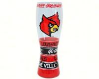 Pilsner Glass - Louisville Cardinals-JENKINS12950