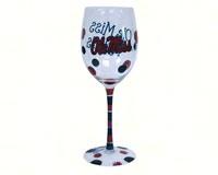 Wine Glass (12 oz) - Ole Miss Rebels-JENKINS12959