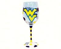 Wine Glass (12 oz) - West Virginia Mountaineers-JENKINS13288