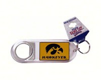 Lucite Logo Bottle Opener Keychain- Iowa Hawkeyes-JENKINS24690