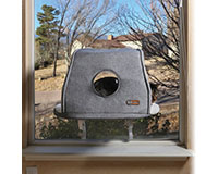 Universal Mount Kitty Sill with Hood Gray-KH9070