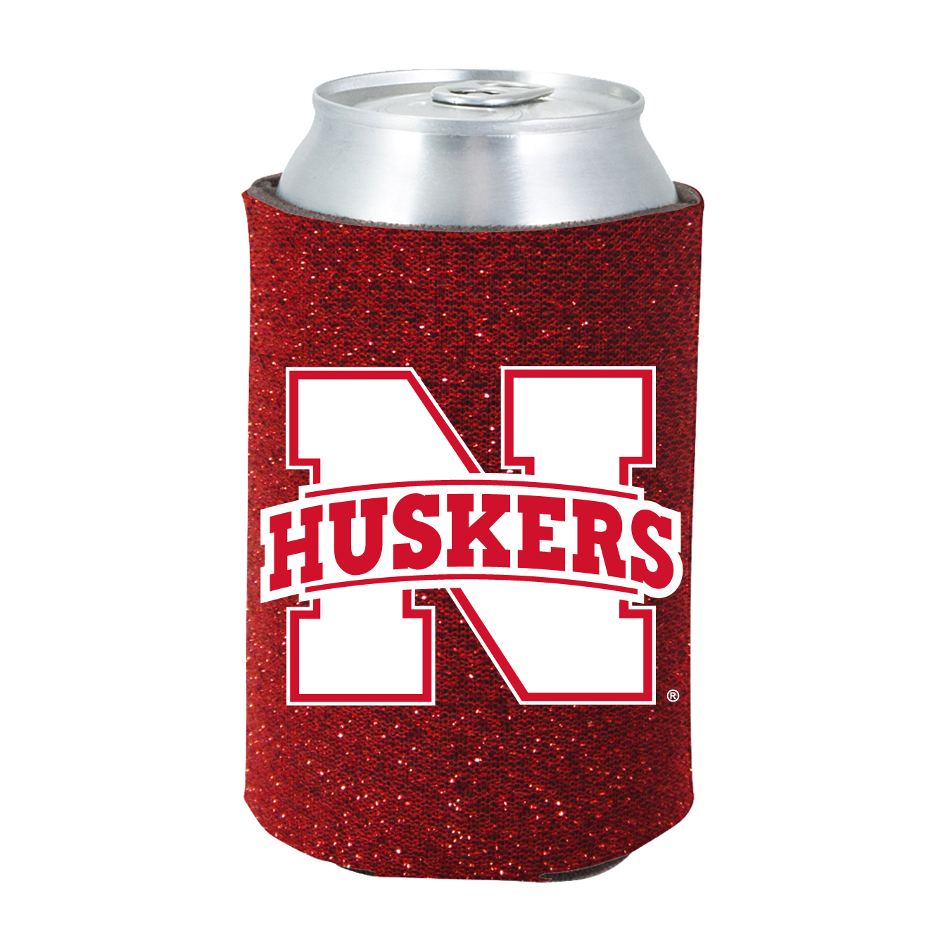 Glitter Can Coolie Nebraska Cornhuskers-KO077886559