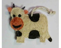 Cow Loofah Kitchen Scrubber-LOOFF200