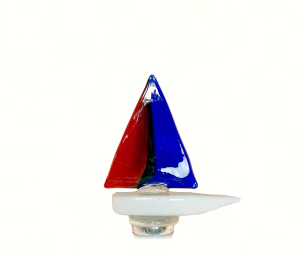 Red, White, Blue Glass Wine Bottle Stopper 14101'
