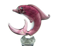 Glass Wbs Dolphin Pink-14119