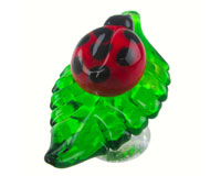 Glass Wbs Lady Bug On Leaf-14302