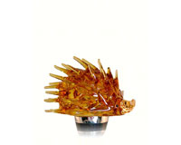 Hedgehog Brown Wine Bottle Stopper-14308