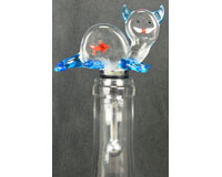Glass Wbs Cat With Fish In Belly-14312