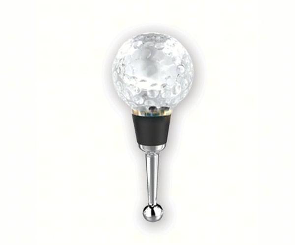 Golf Ball Glass Wine Bottle Stopper (Gift Box)