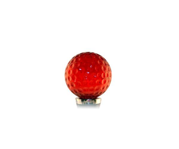 Glass Wbs Golf ball -Red