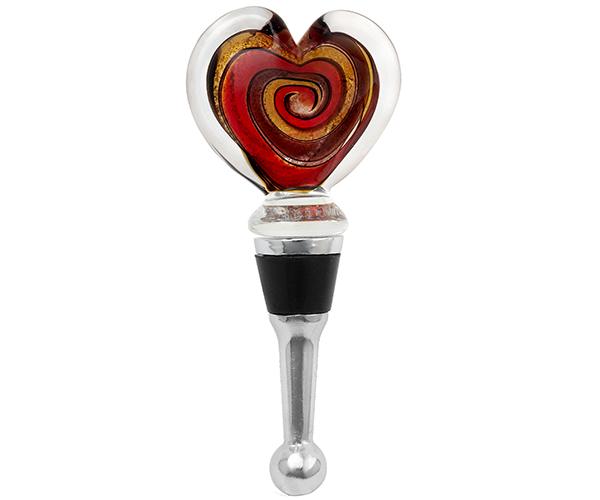 Bottle Stopper - Verona-Heart BS-154
