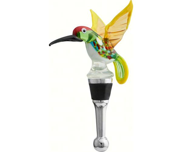 Bottle Stopper - Spring Hummingbird