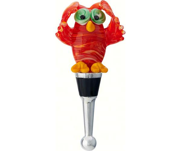 Bottle Stopper - Red Owl BS-458