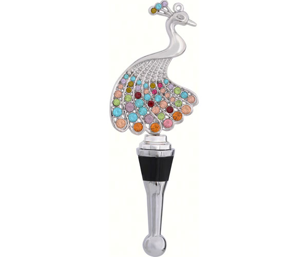 Bottle Stopper - Peacock with Stones BS-475