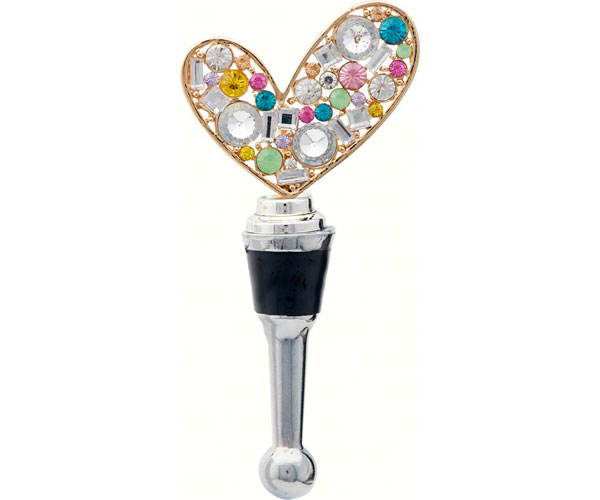Bottle Stopper - Heart with Stones BS-476