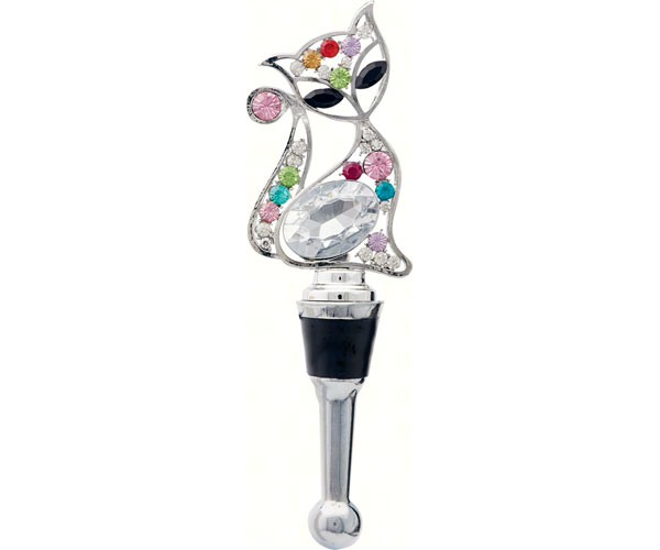 Bottle Stopper - Cat with Stones BS-477