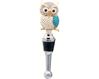 Bottle Stopper - Owl with Stones BS-478