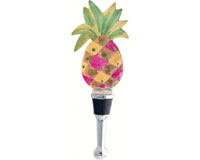 Bottle Stopper - Pineapple Resin - 5 inch BS-495
