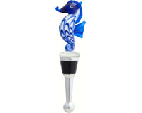 Bottle Stopper - Seahorse Blue BS-506
