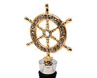 Ships Wheel Bling Bottle Stopper BS-530