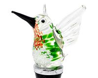 Ruby Throated Hummingbird Bottle Stopper BS-538