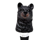 Black Bear Bottle Stopper - Resin BS-540
