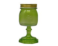 Small Jar Green 9.5 oz-GL4502GR