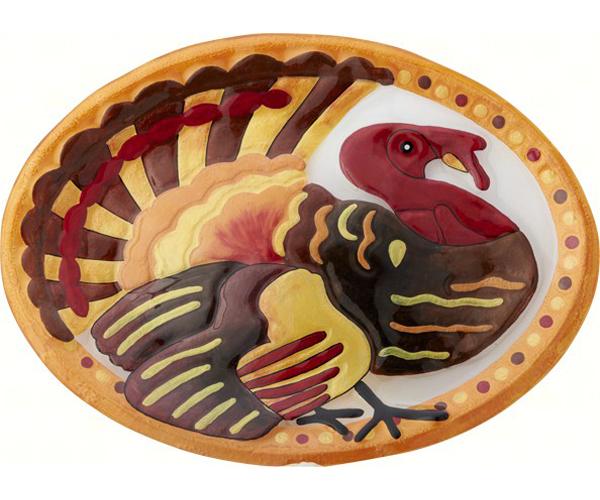 Turkey Oval Platter - 14x10 Inches - TBD