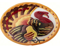 Turkey Oval Platter - 14x10 Inches - TBD-GP-006