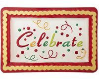Celebrate Platter - 14x9.5 Inches - TBD-GP-010