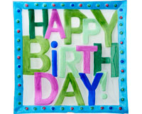 Happy Birthday Platter - 11.75 Inch Square - TBD-GP-012
