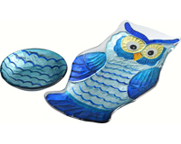 Owl 2 Piece Chip 'N Dip Platter-GP-017