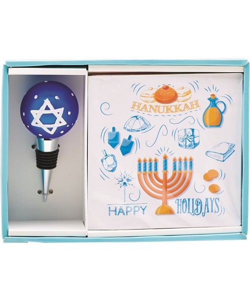 Hostess Set - Hanukkah (Napkins and Stopper)