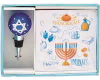 Hostess Set - Hanukkah (Napkins and Stopper)-HK-025