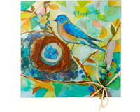 Cheese Board - Bird - Happiness - Square 9 Inch-HS-050