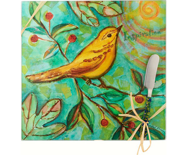 Cheese Board - Bird - Inspiration - Square 9 Inch