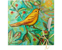Cheese Board - Bird - Inspiration - Square 9 Inch-HS-051