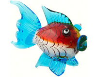 Milano Art Glass Animals-Blowfish LG MA-069