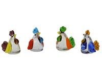 Milano Art Glass Animals-Mini Hens MA-130